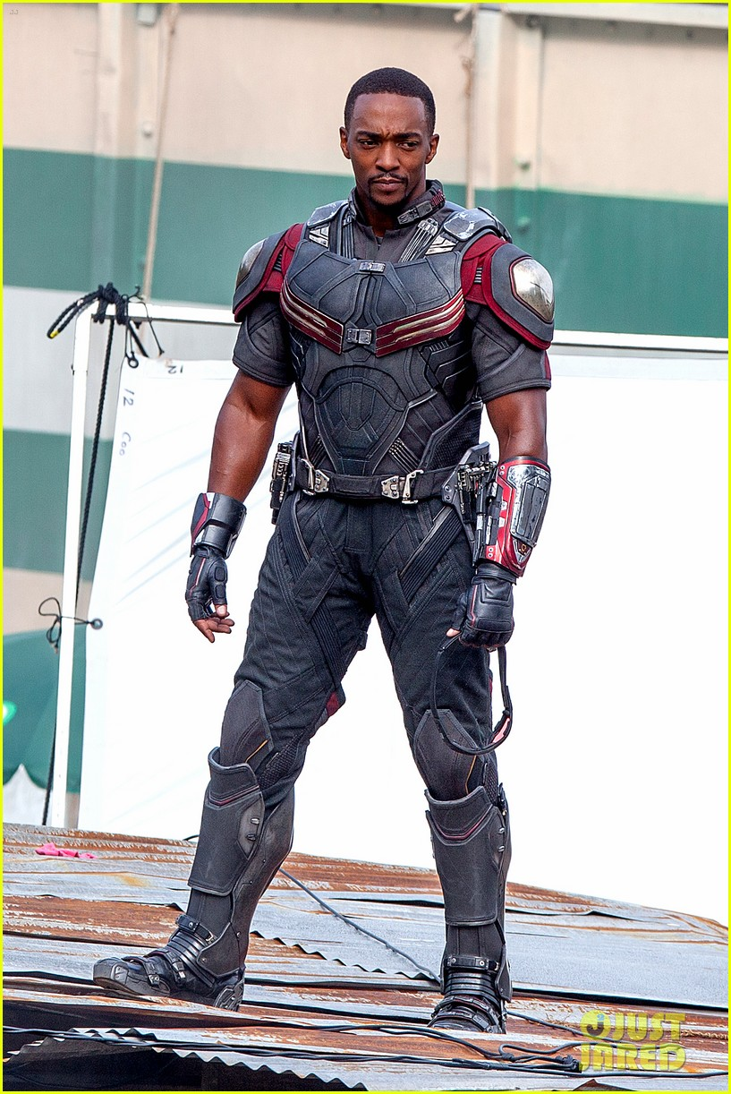 chris evans anthony mackie get to action captain america civil war 223370450