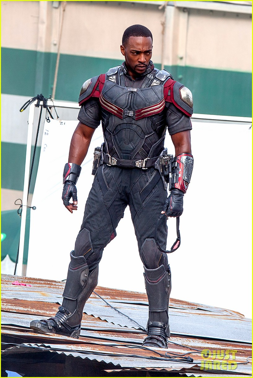 chris evans anthony mackie get to action captain america civil war 243370452