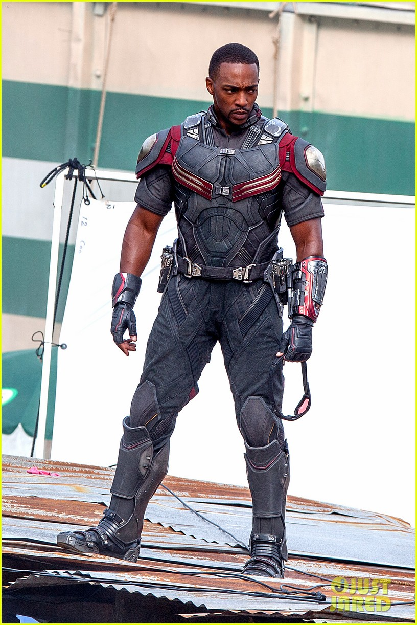 chris evans anthony mackie get to action captain america civil war 263370454