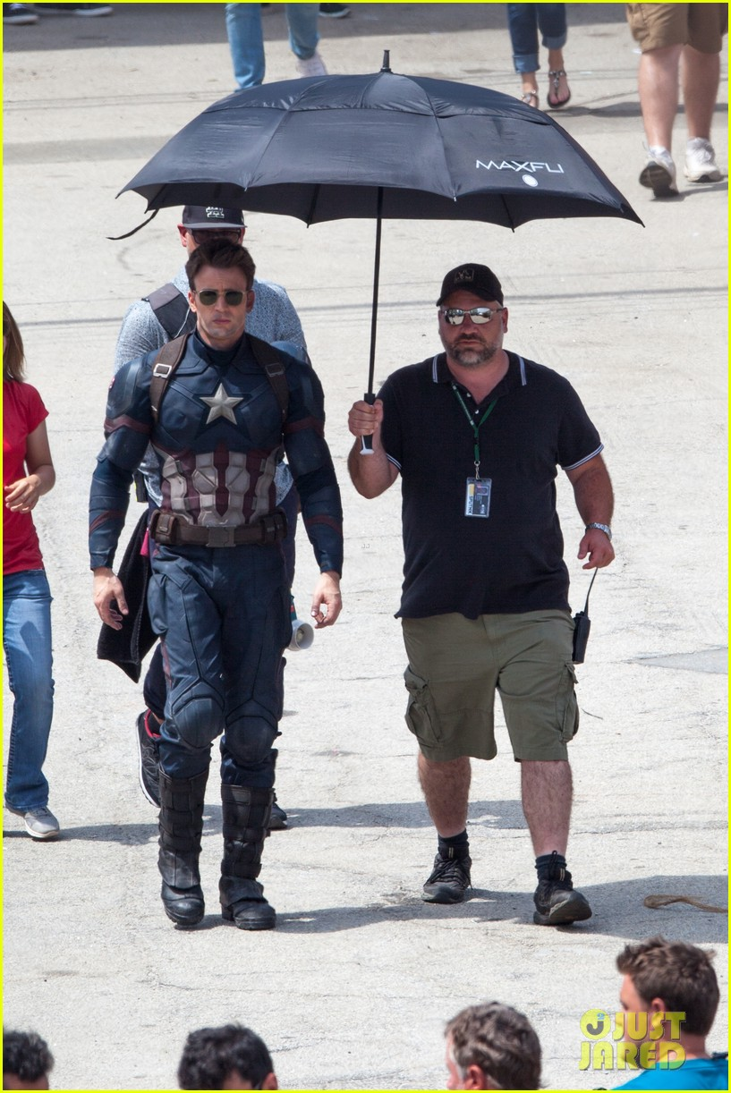 chris evans anthony mackie get to action captain america civil war 283370456