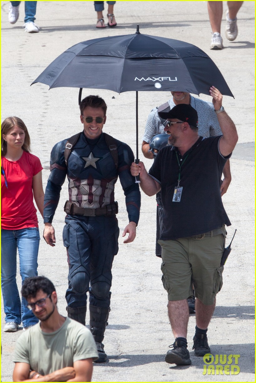 Chris Evans Anthony Mackie Get To Action On Captain America Civil War Set
