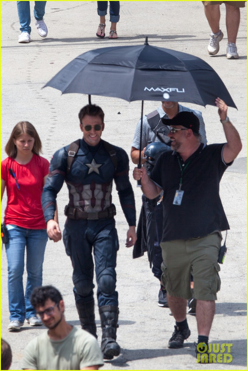 chris evans anthony mackie get to action captain america civil war 413370469