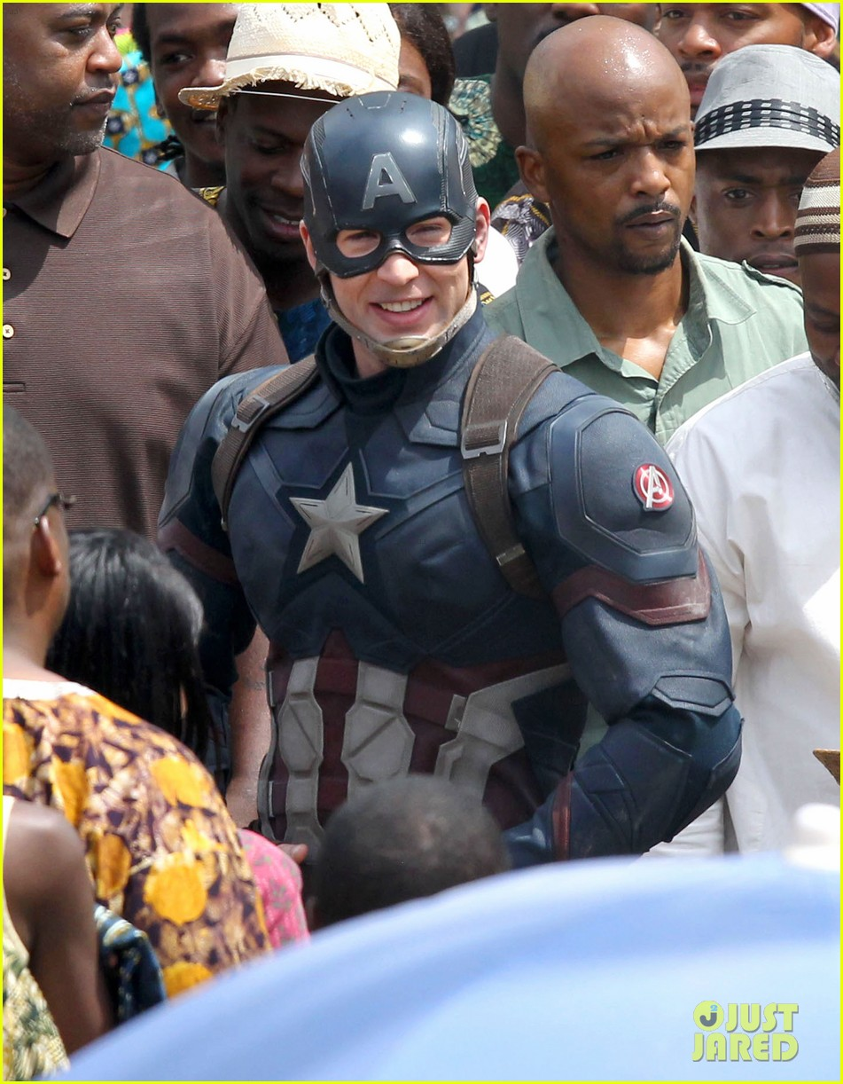 chris evans anthony mackie get to action captain america civil war 453370473