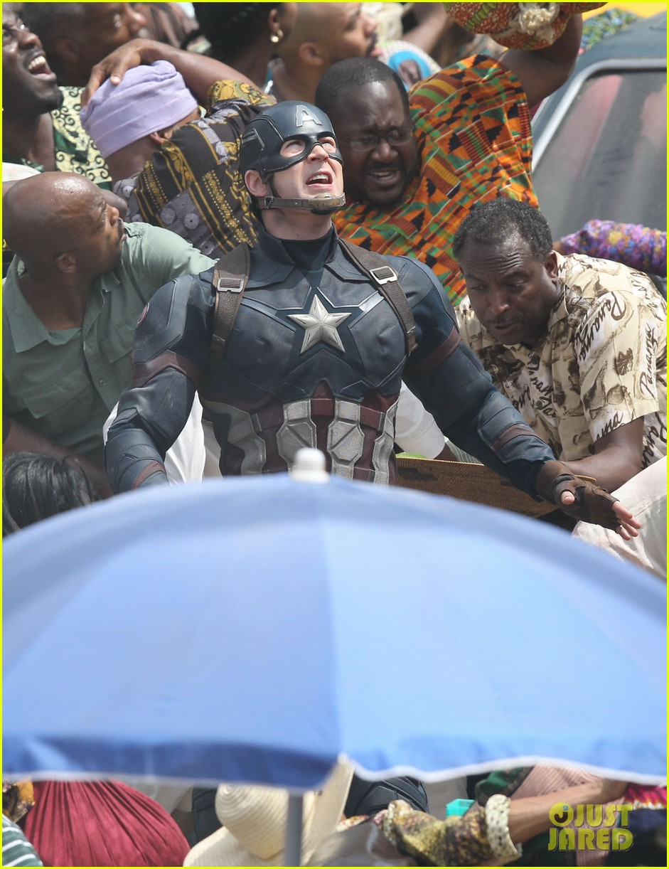 chris evans anthony mackie get to action captain america civil war 473370475