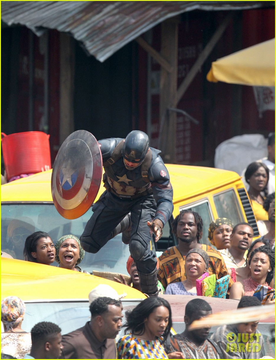 chris evans anthony mackie get to action captain america civil war 513370479