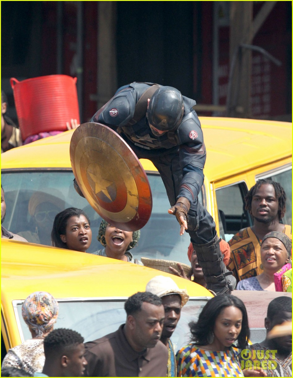 chris evans anthony mackie get to action captain america civil war 523370480