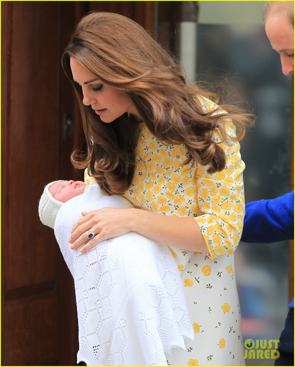 royal baby girl first appearance with kate middleton prince william 153361759