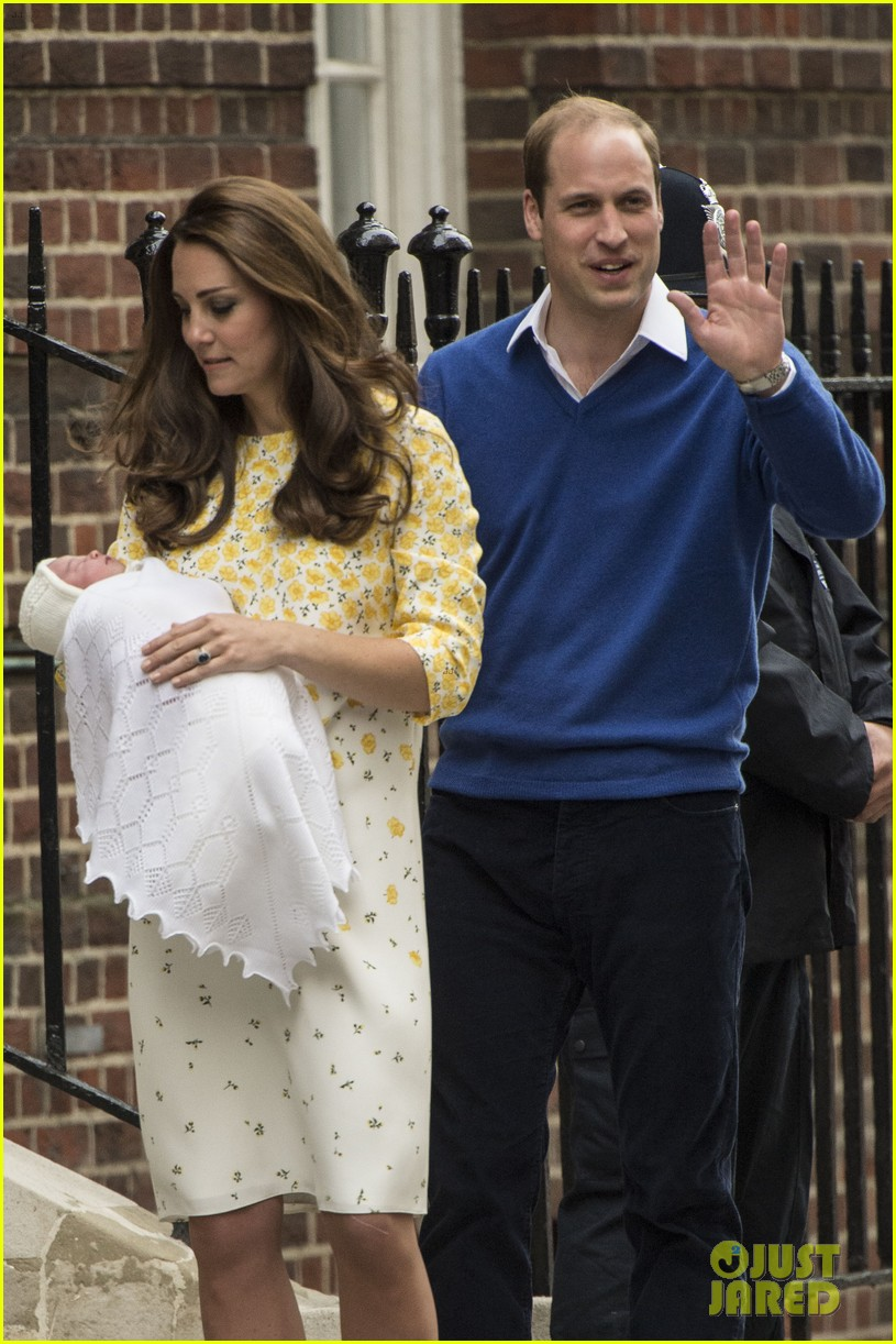 royal baby girl first appearance with kate middleton prince william 243361768