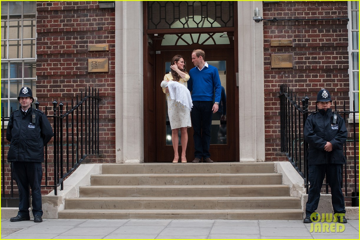 royal baby girl first appearance with kate middleton prince william 323361776