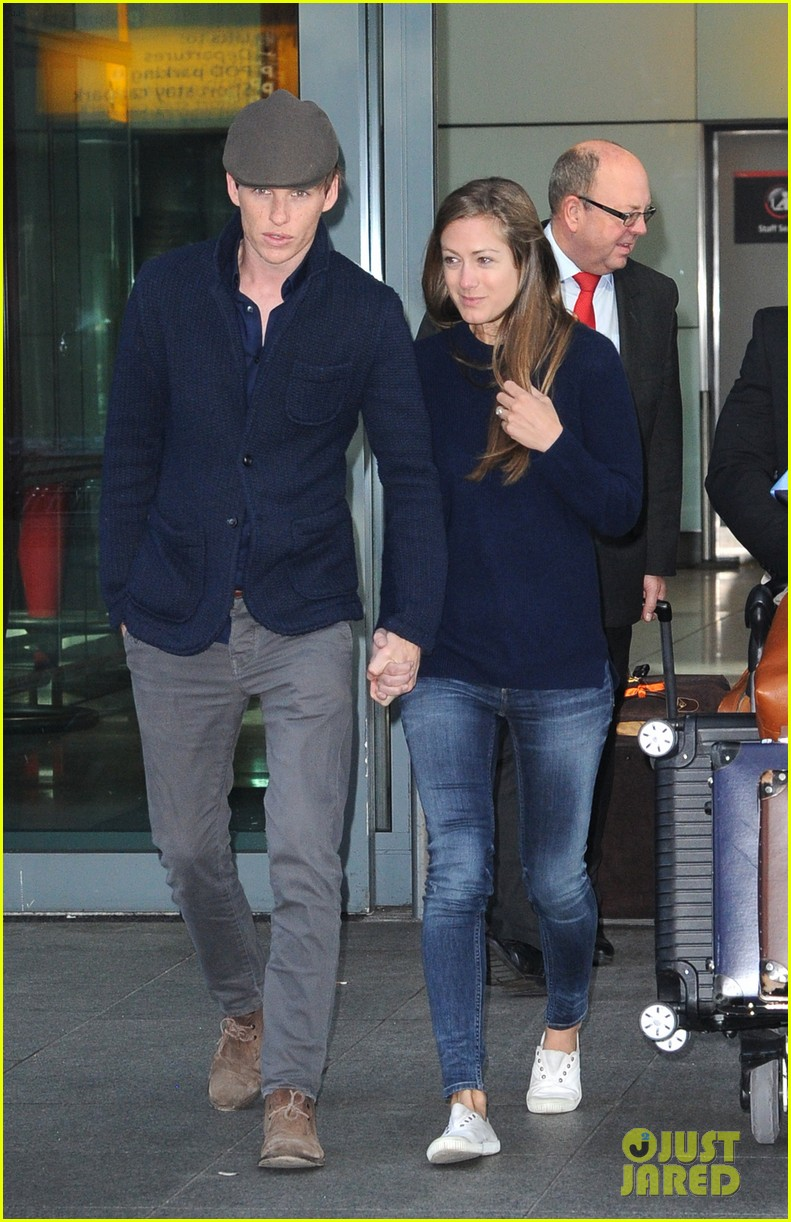 eddie redmayne hannah bagshawe fly to london 233364400