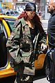 rihanna steps out in camo nyc 09