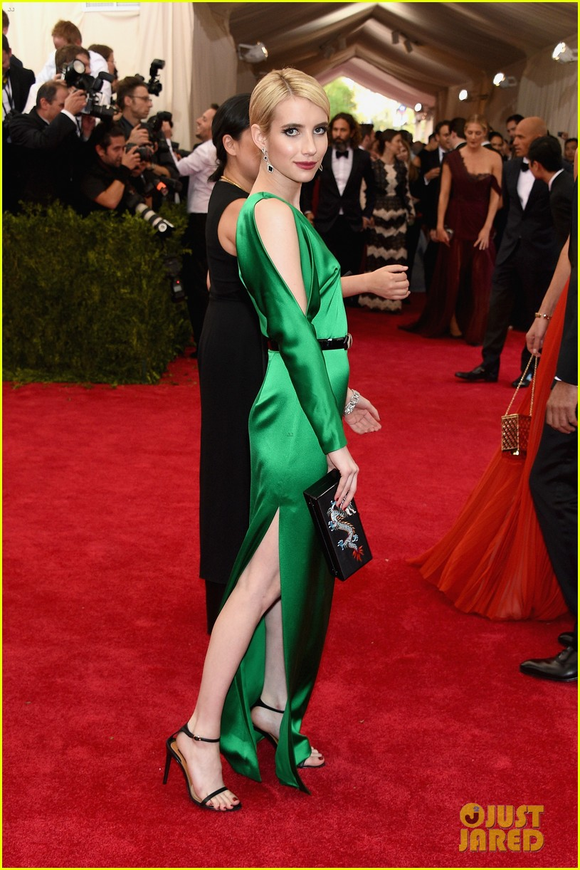 Emma Roberts Brings Color To The Red Carpet At Met Gala 2015 Photo