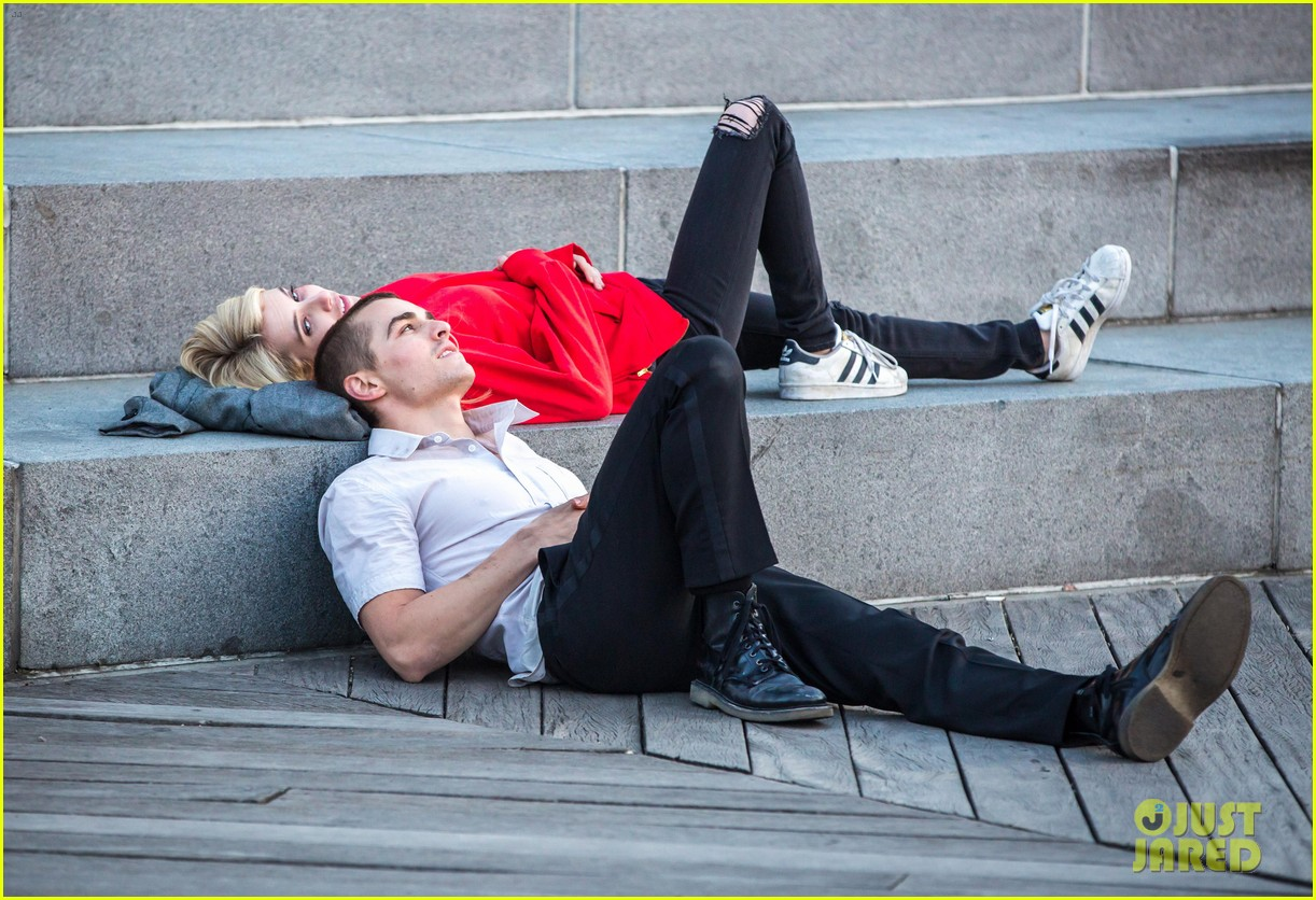 emma roberts dave franco share big smooch on nerve set 023359929