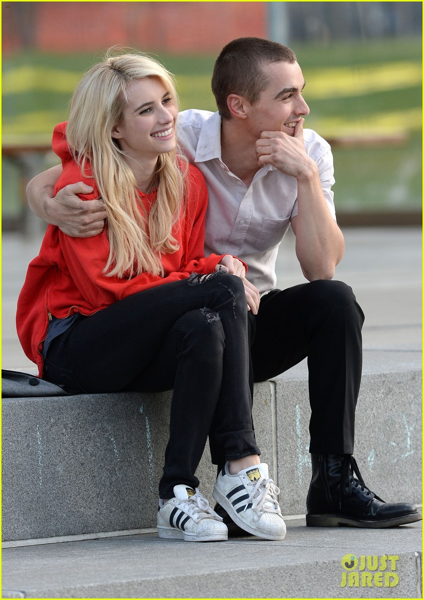 emma roberts dave franco share big smooch on nerve set 063359933