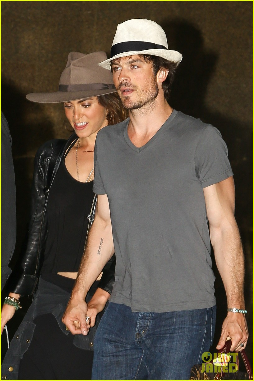 Ian Somerhalder Nikki Reed Step Out After Wedding See Their