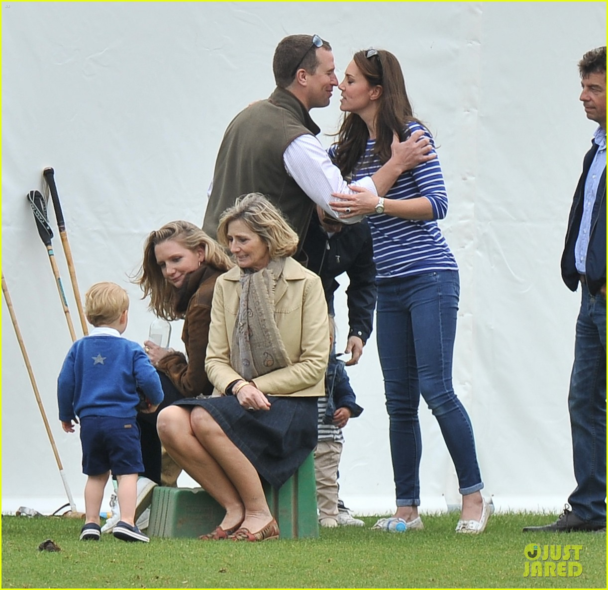 Prince George Kicks The Polo Ball With Mom Kate Middleton