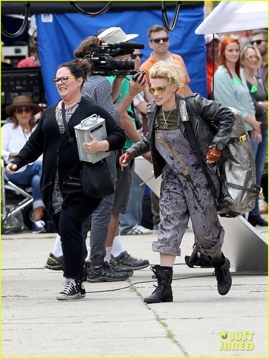 ghostbusters first day filming set pics 073397087