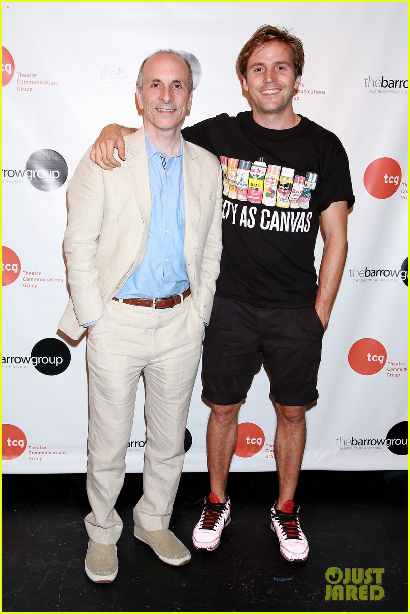 anne hathaway supports seth barrish at an actors companion book release party 023400966