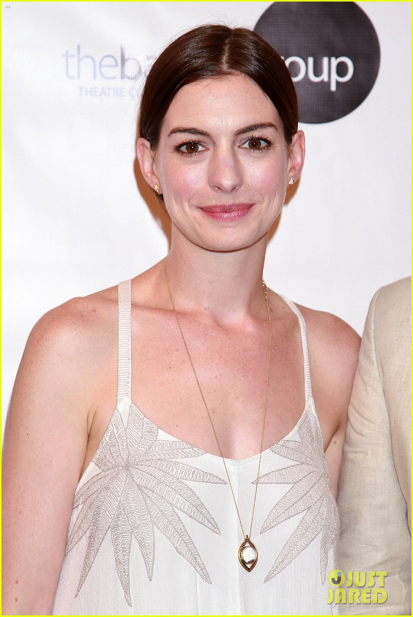 anne hathaway supports seth barrish at an actors companion book release party 033400967