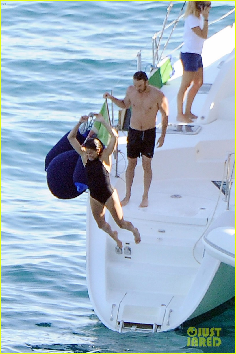 Ian Somerhalder Goes Shirtless While Jumping Off A Boat