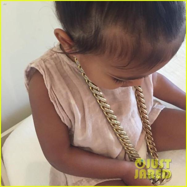 kim kardashian daughter north stole kanye west necklace 043392430