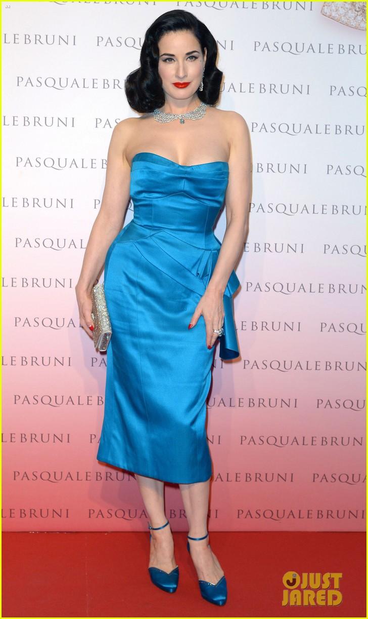 Dita Von Teese Is Lady In Blue at Pasquale Bruni Secret Garden ...