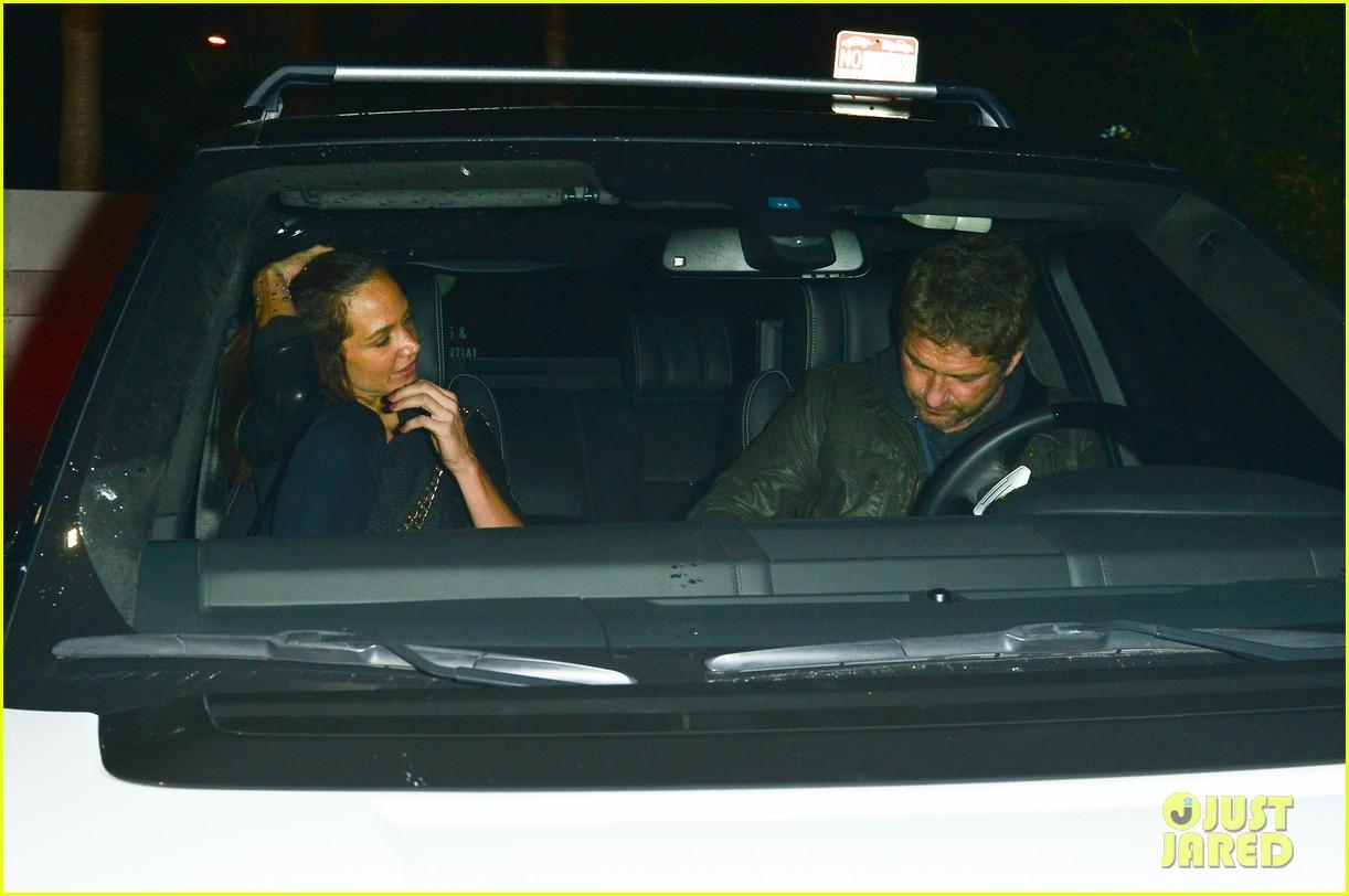 Gerard Butler & Morgan Brown Have a Date Night at The Nice Guy Gerard Butler