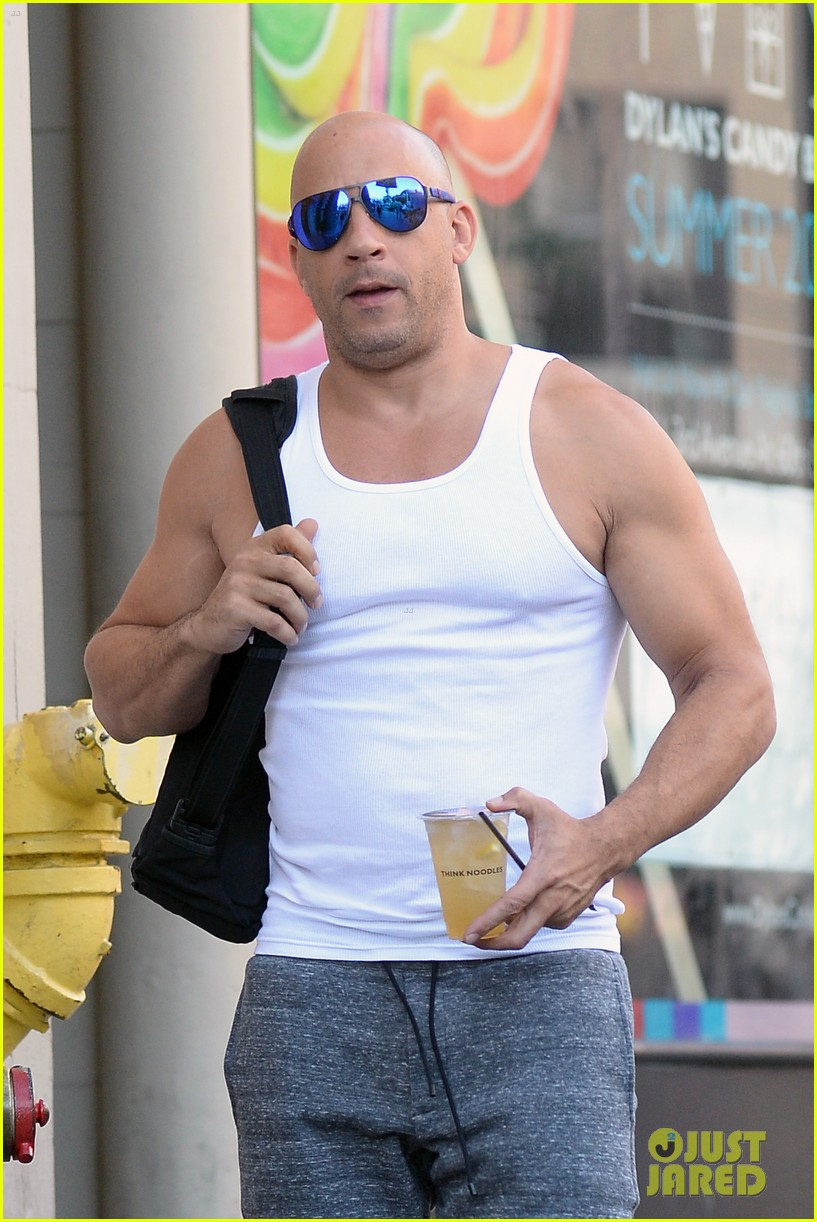 Vin Diesel Flaunts His Big Muscles After His 48th Birthday Photo