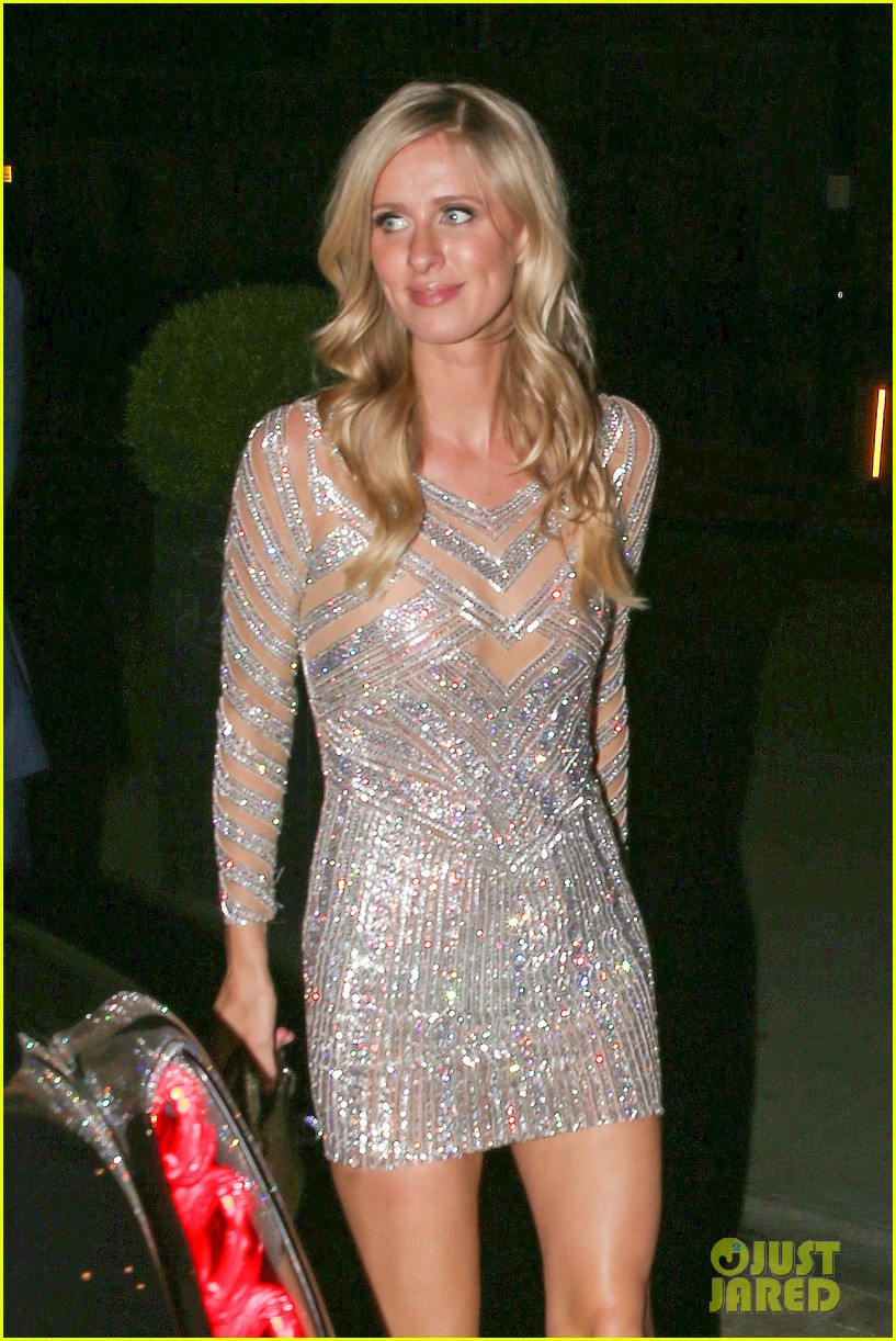 nicky hilton changes into short dress after her wedding 043413247
