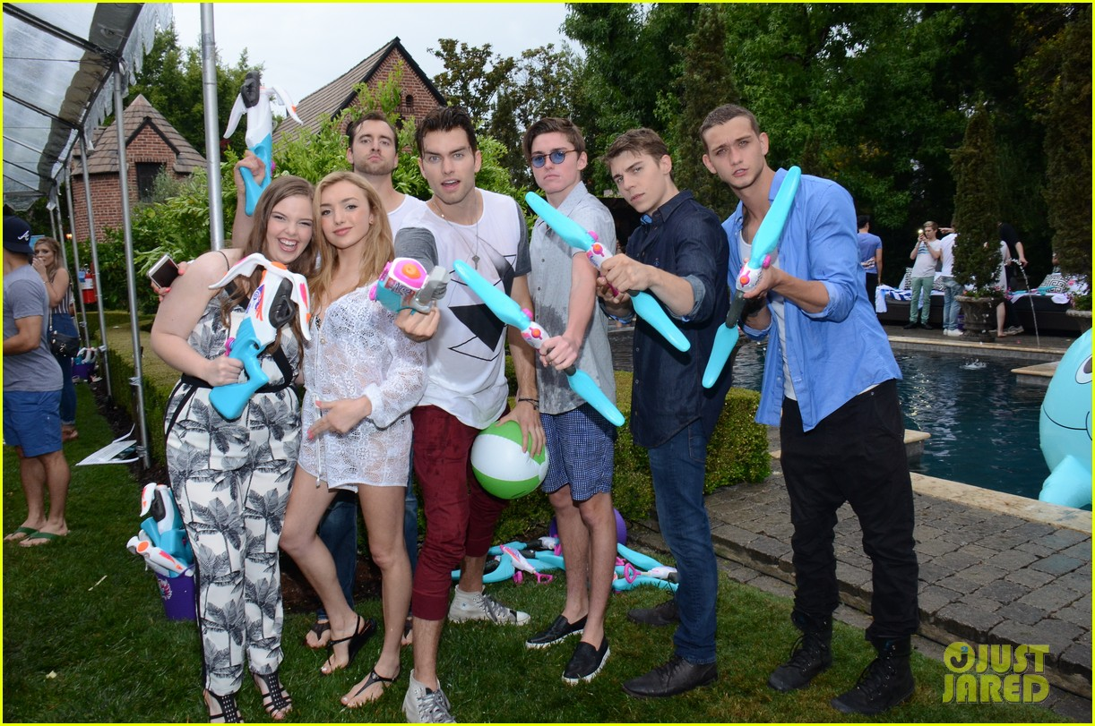 peyton list participates in biggest water fight ever at jj s summer