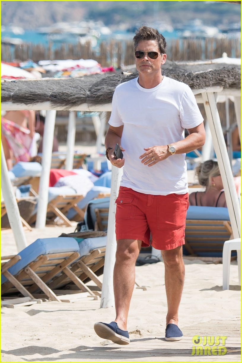 rob lowe amp wife sheryl berkoff vacation in st tropez