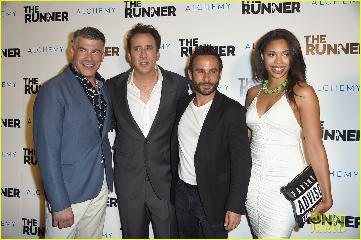 nicolas cage is joined by son weston at the runner premiere 033431683