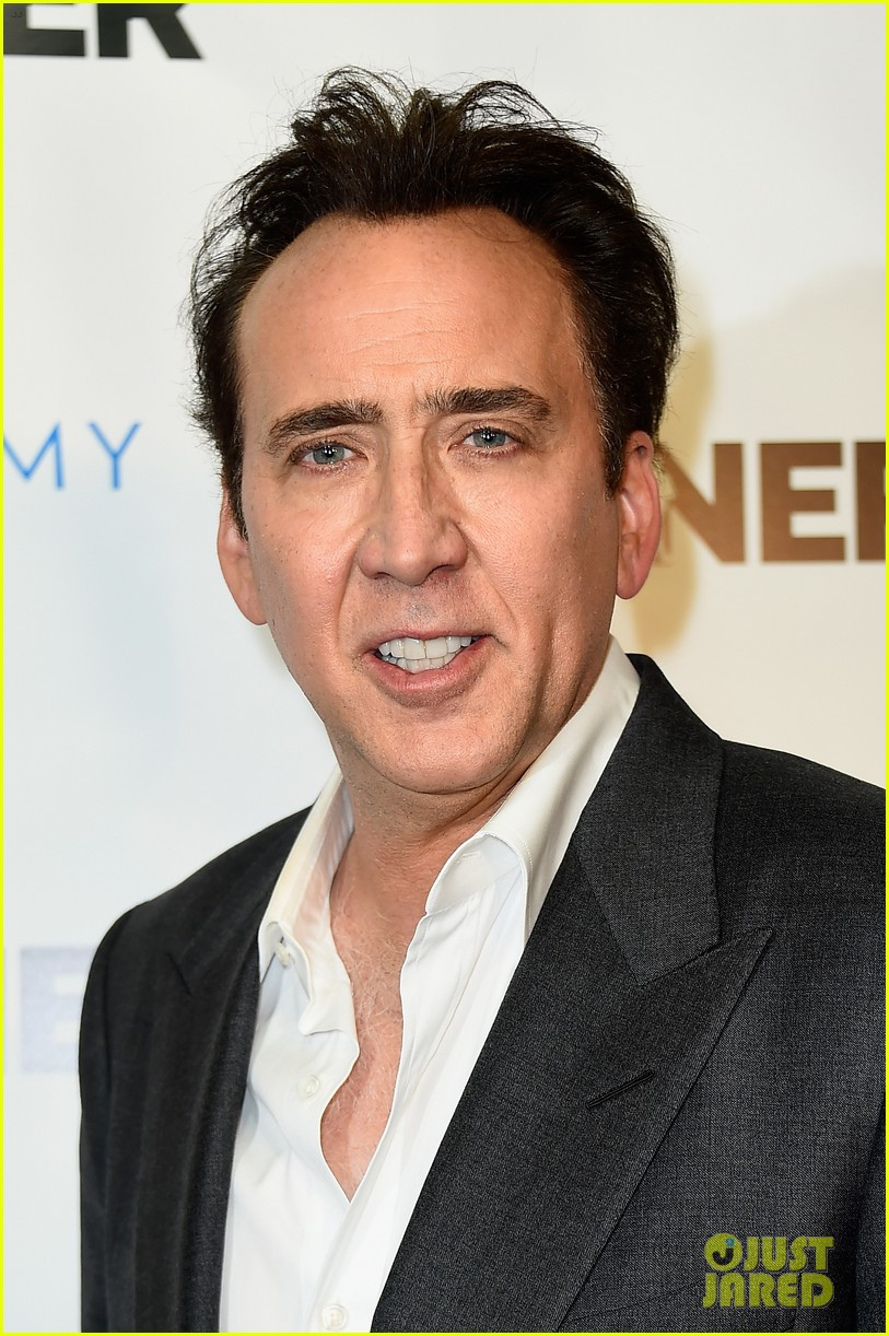 nicolas cage is joined by son weston at the runner premiere 043431684
