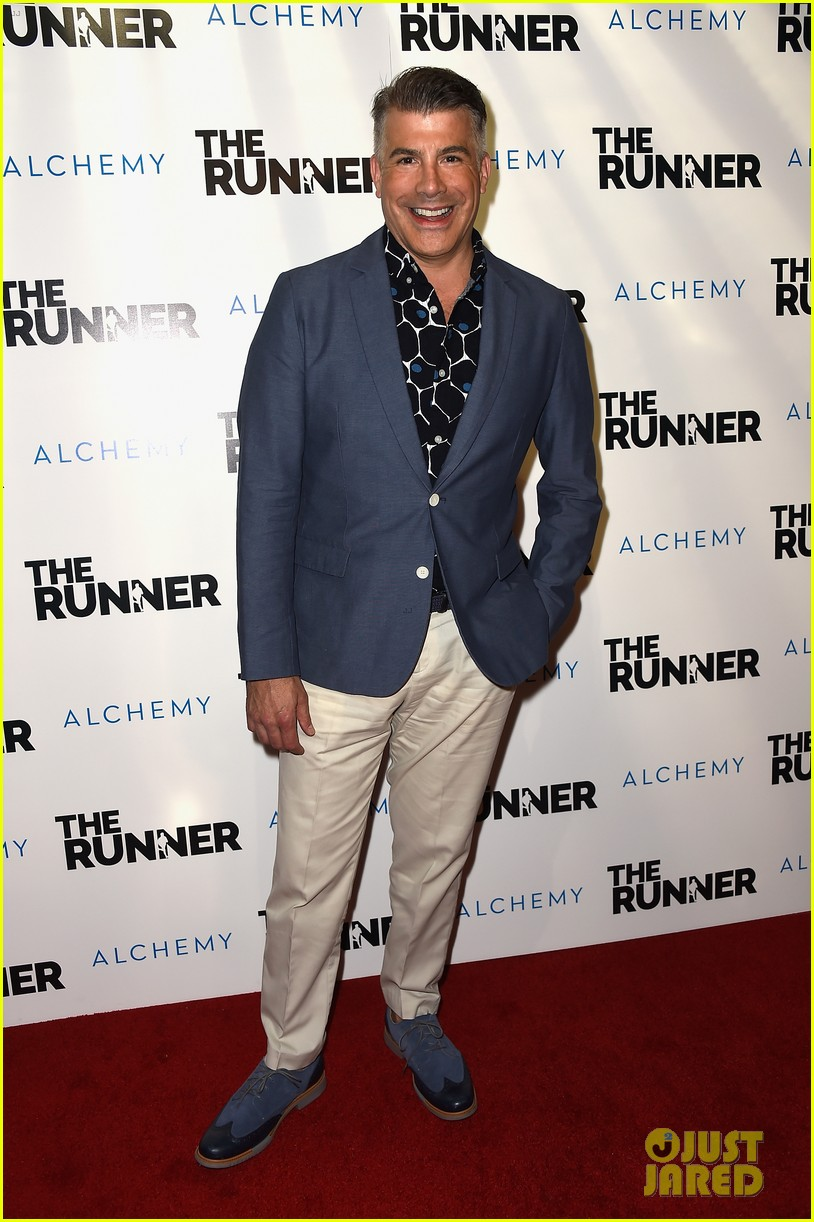nicolas cage is joined by son weston at the runner premiere 163431696