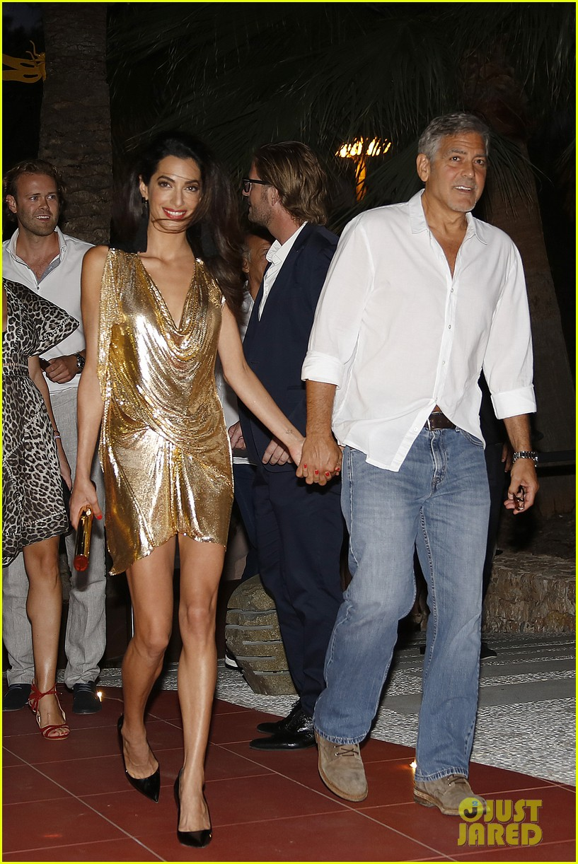 George & Amal Clooney, the Gerbers at the Ibiza launch of their Casamigos tequila August 23, 2015 George-amal-clooney-launch-tequila-ibiza-09