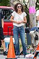 katie holmes greeted with bouquet of flowers on all we had set 09
