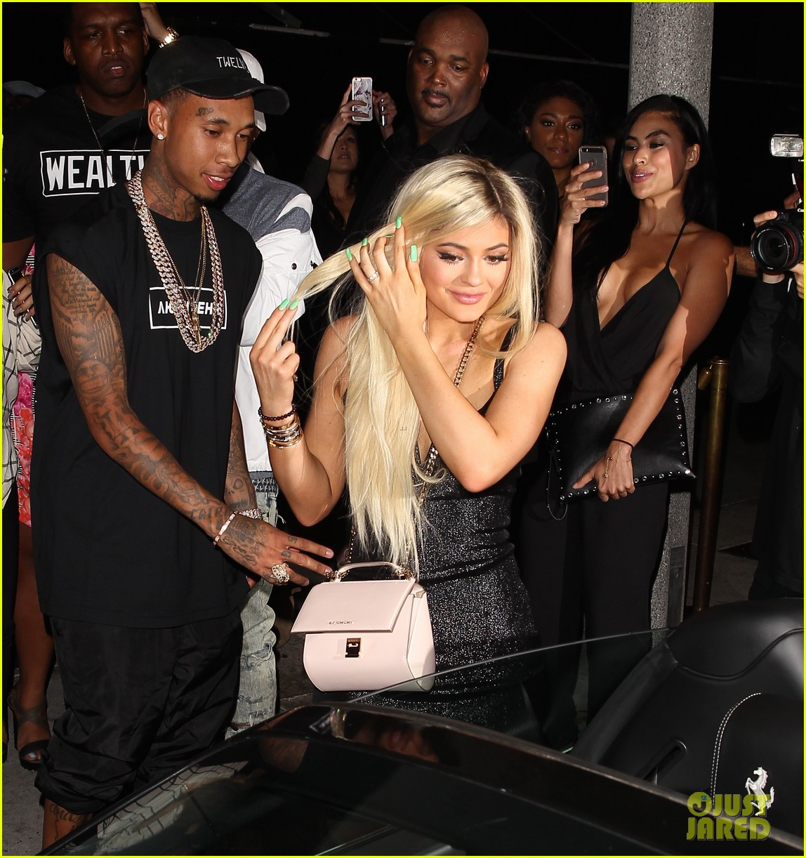 Tyga Surprises Kylie Jenner With Brand New Ferrari At 18th