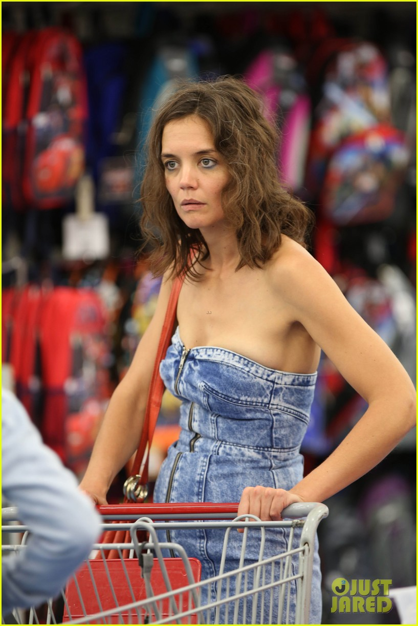 Katie Holmes Dons Super Short Denim Dress for 'All We Had' : Photo ... Katie Holmes