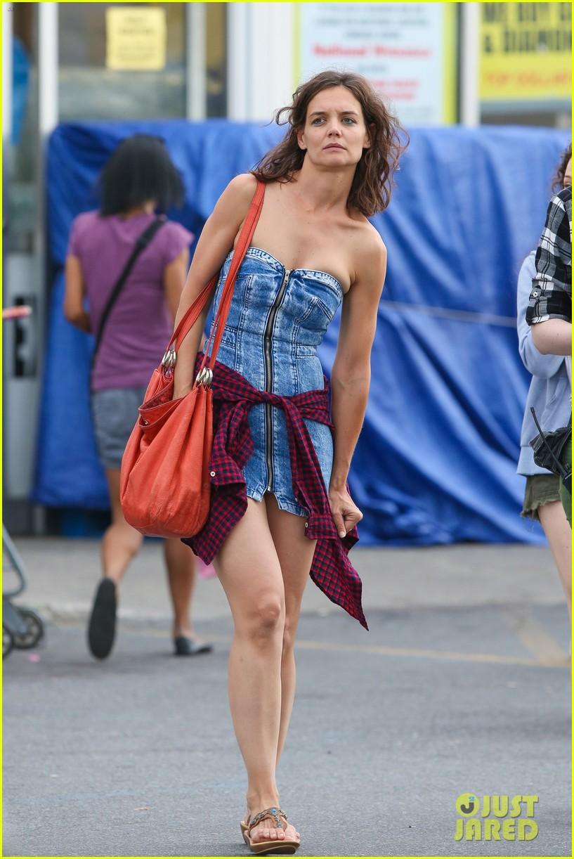 Katie Holmes Dons Super Short Denim Dress For All We Had