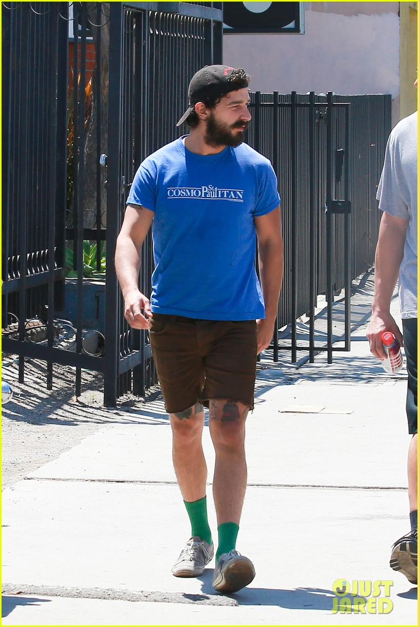 Full Sized Photo Of Shia Labeouf New Tattoo Gym Los Angeles 12 Photo 3438721 Just Jared