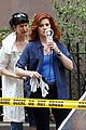debra messing josh lucas mysteries of laura filming08