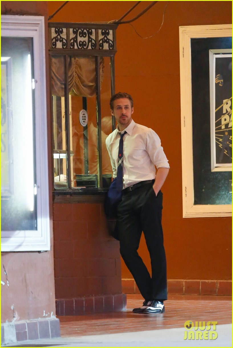 emma stone ryan gosling night shoots lala land race 323441790