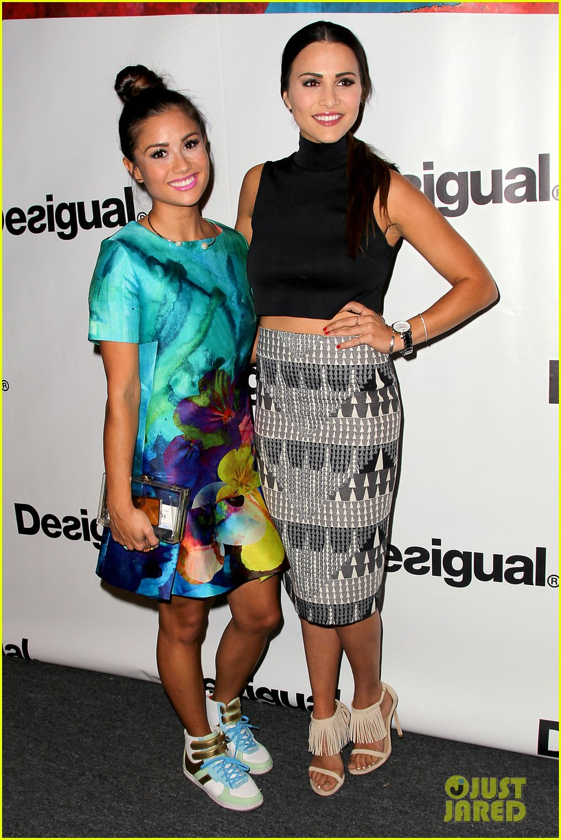 bachelorette stars take over at desiguals nyfw show 033457125