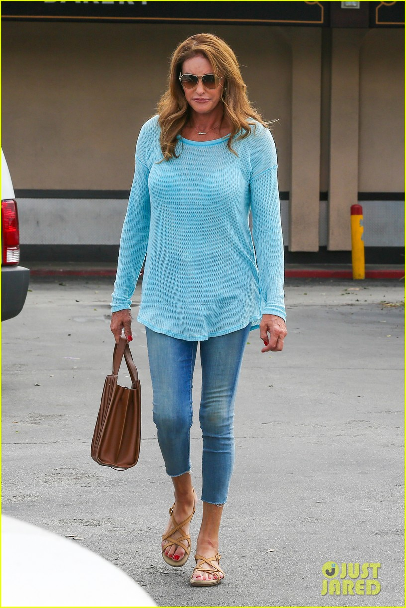caitlyn jenner puts her bra on display in a sheer sweater 033461895