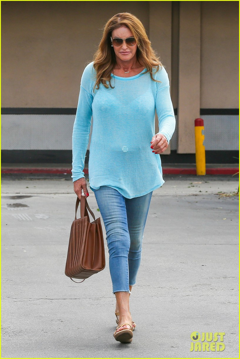 caitlyn jenner puts her bra on display in a sheer sweater 103461902