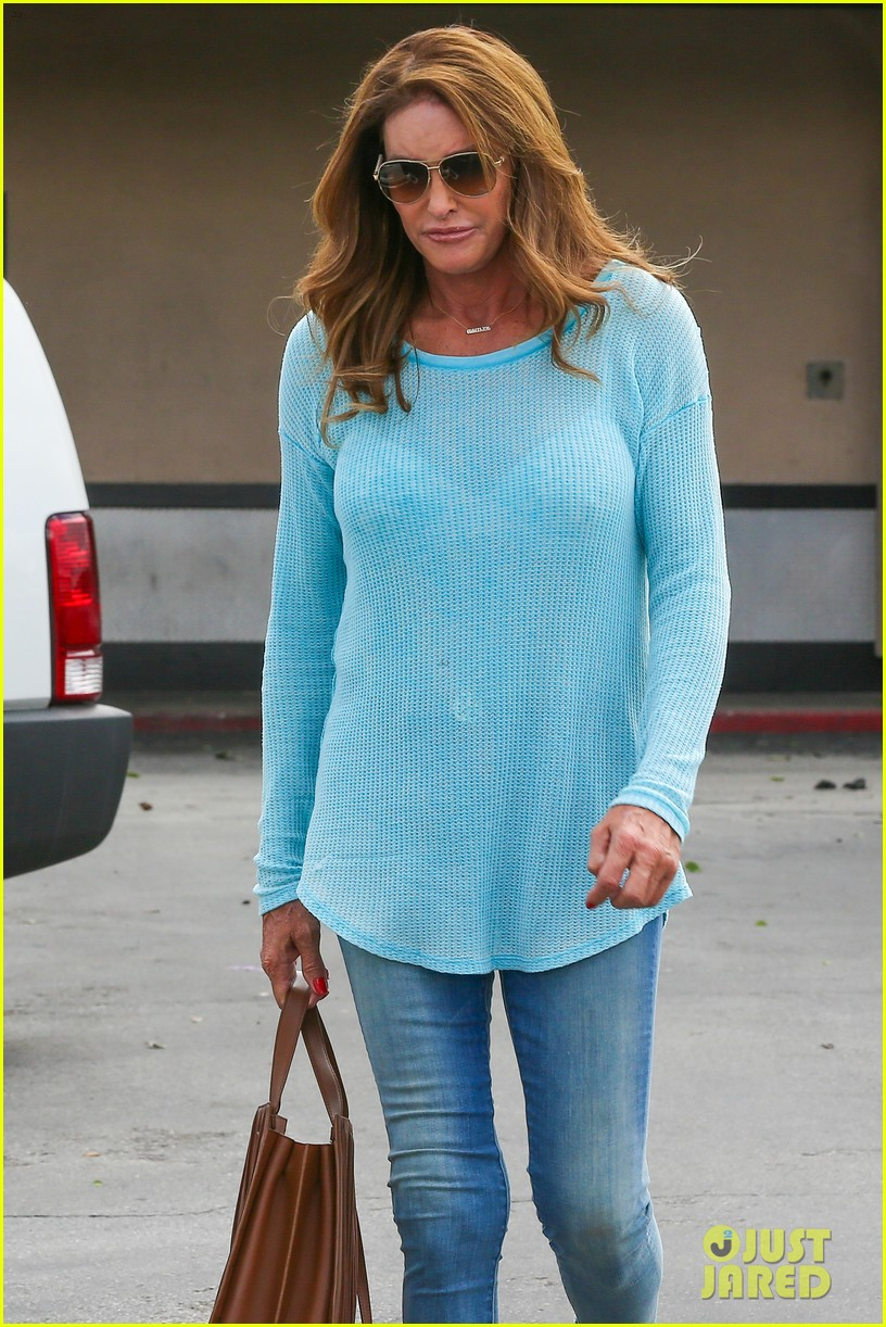 caitlyn jenner puts her bra on display in a sheer sweater 123461904
