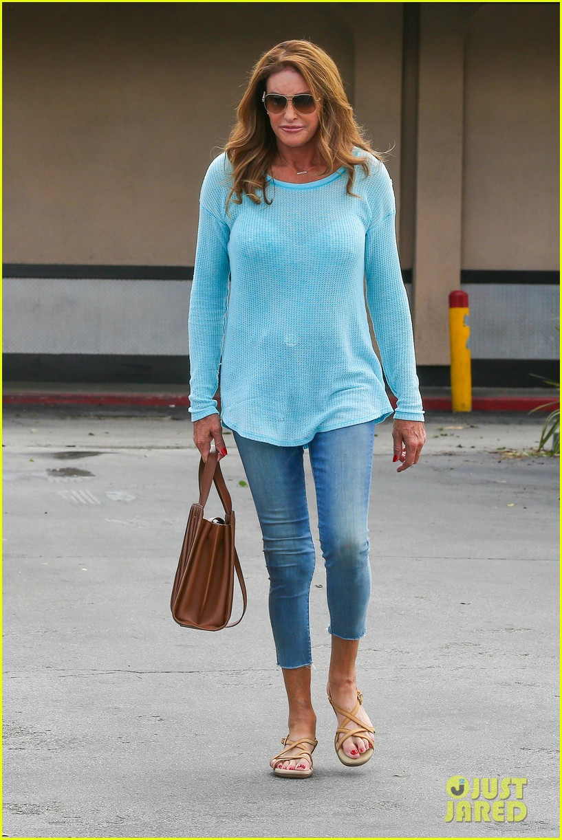 caitlyn jenner puts her bra on display in a sheer sweater 133461905