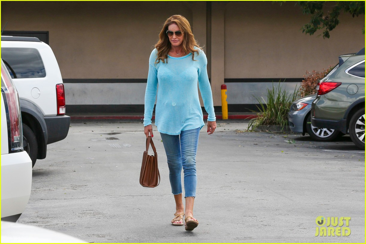 caitlyn jenner puts her bra on display in a sheer sweater 153461907