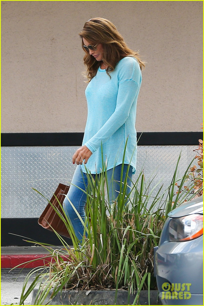 caitlyn jenner puts her bra on display in a sheer sweater 173461909