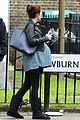 michelle dockery fake baby bump on set 03